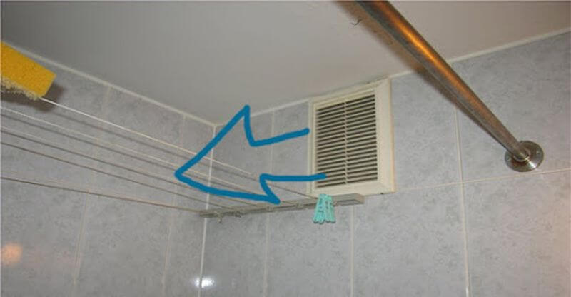 обратная тяга в ванной