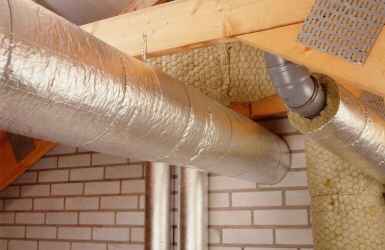 утепление вентиляционных труб