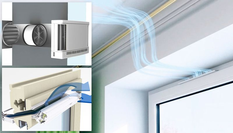 установка приточной вентиляции на пластиковые окна