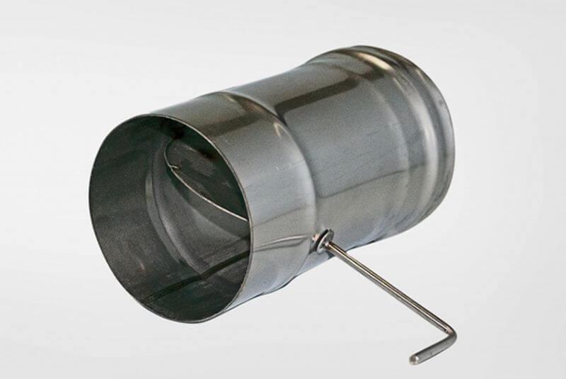 поворотный дроссельный шибер для вентиляции