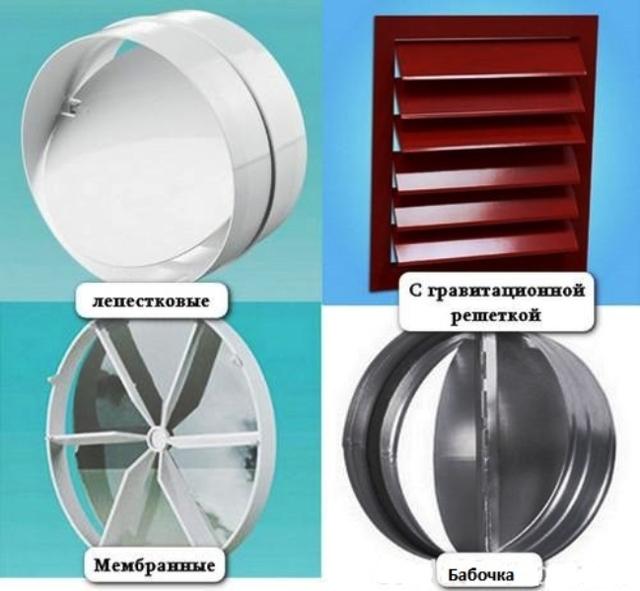 Разновидности решеток с обратным клапаном